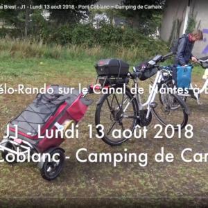 ☛ Jour J1 – Lundi 13 août 2018 – Pont Coblanc – Camping de la vallée d'Hyères (Carhaix)