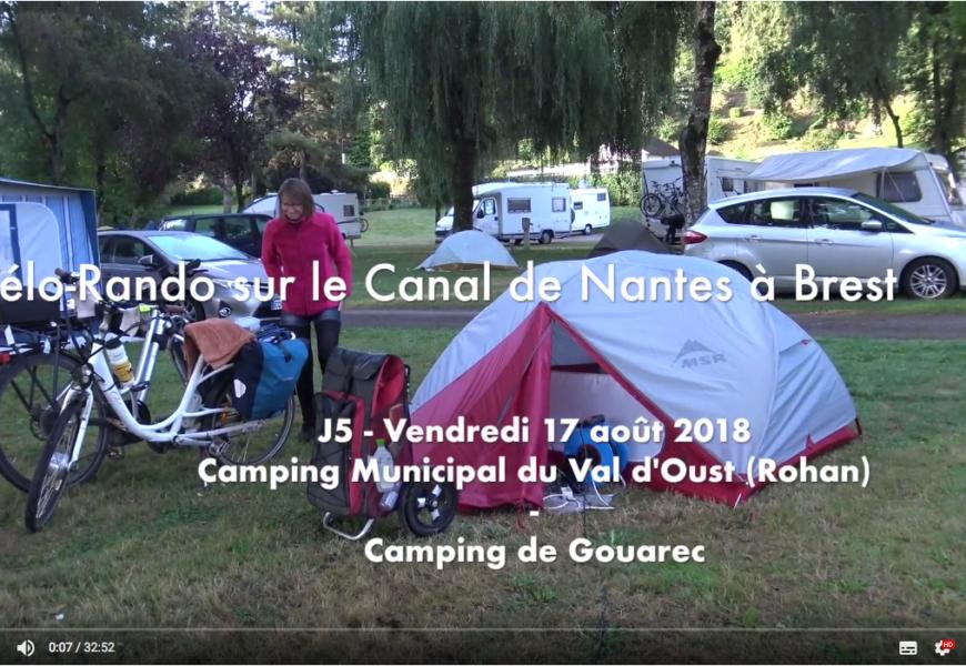 ☛ J5 – Vendredi 17 août – Camping Municipal du Val d'Oust (route de Saint Gouvry 56580 Rohan) – Camping de Gouarec