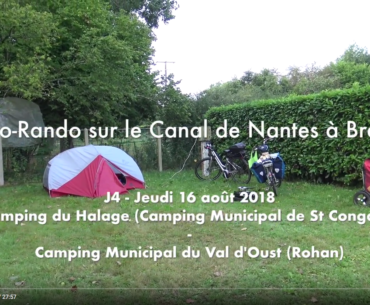 ☛ J4 – Jeudi 16 août – Camping Municipal du Halage (Saint Congard) – Camping Municipal du Val d'Oust (route de Saint Gouvry 56580 Rohan)
