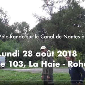 ☛ Lundi 27 août – Canal de Nantes à Brest – Du Relais 103 à Rohan: Trois échelles d'écluses – 51 écluses en 20 km!